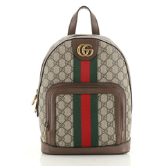 Gucci Ophidia Backpack GG Coated Canvas Small