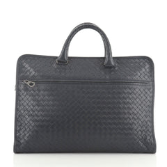 Bottega Veneta Convertible Front Zip Briefcase Intrecciato Nappa