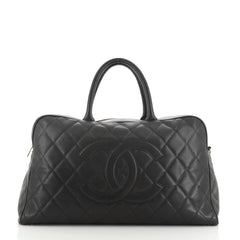 Chanel Timeless CC Bowler Bag Quilted Caviar XL