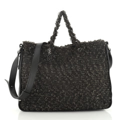 Chanel CC Charm Tote Tweed Large