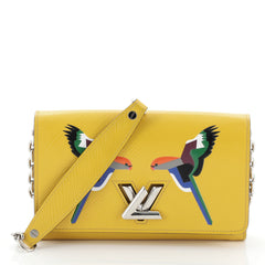 Louis Vuitton Twist Chain Wallet Bird Motif Epi Leather