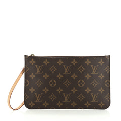 Louis Vuitton Neverfull Pochette Monogram Canvas Large