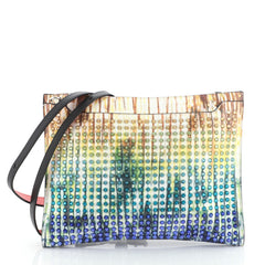Christian Louboutin Loubiclutch Spiked Multicolor Leather