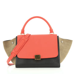 Celine Tricolor Trapeze Bag Leather Small