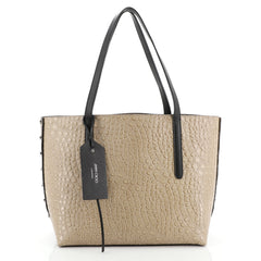 Jimmy Choo Twist East West Tote Crocodile Embossed Leather Medium