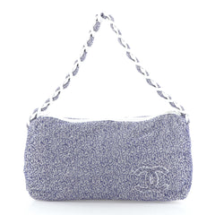 Chanel Beach Resin Chain Hobo Terry Cloth Large