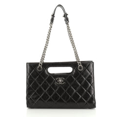 Chanel Boy Shopper Quilted Glazed Calfskin Medium