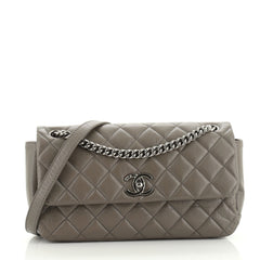 Chanel Lady Pearly Flap Bag Aged Quilted Calfskin Medium