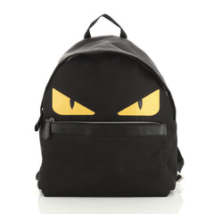 Fendi Monster Backpack Nylon with Leather Large