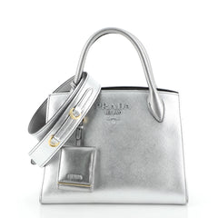 Monochrome Tote Saffiano Leather with City Calfskin Small