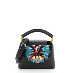 Louis Vuitton Capucines Handbag Leather with Feathers Mini