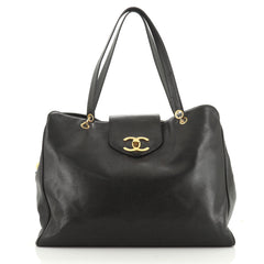 Chanel Vintage Supermodel Weekender Bag Caviar Large