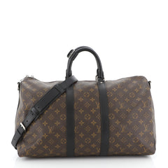 Louis Vuitton Keepall Bandouliere Bag Macassar Monogram Canvas 45