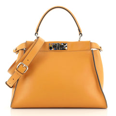 Fendi Peekaboo Bag Leather with Plexiglass Detail Regular