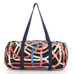 Hermes Airsilk Duffle Bag Printed Silk 38