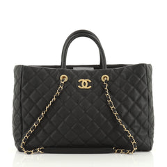 Chanel Coco Handle Shopping Tote Quilted Caviar Large