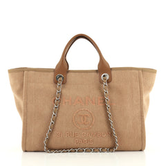 Chanel Deauville Tote Canvas with Sequins Large