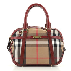 Burberry Bridle Orchard Bag House Check Canvas Small