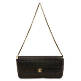 Chanel East West Chocolate Bar Flap Lambskin