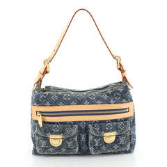 Louis Vuitton Baggy Handbag Denim PM