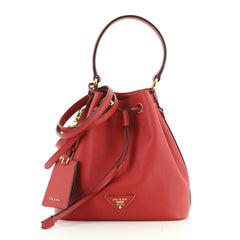 Prada Top Handle Bucket Bag Saffiano Leather Small