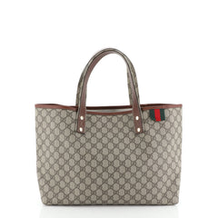 Gucci Web Loop Tote GG Coated Canvas Medium
