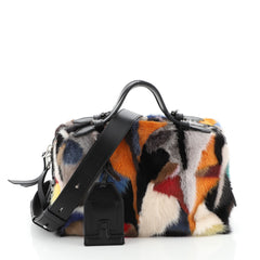 Gommino Shoulder Bag Multicolor Fur Medium