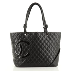 Chanel Cambon Tote Quilted Leather Large