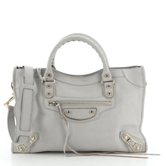City Classic Metallic Edge Bag Leather Medium