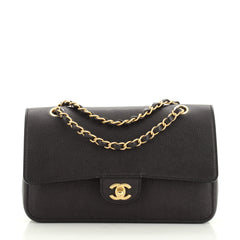 Chanel Classic Pure Double Flap Bag Caviar Medium
