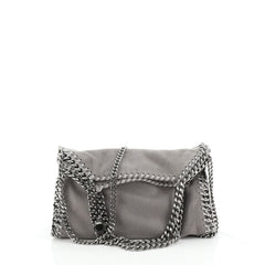 Stella McCartney Falabella Fold Over Flap Crossbody Bag Shaggy Deer Mini
