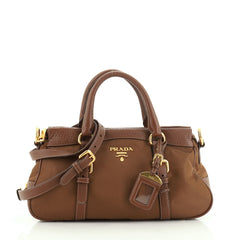Prada Convertible Belted Satchel Tessuto with Leather Medium