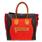 Celine Luggage Tricolor Canvas Medium