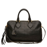 Celine Triptyque Embossed Crocodile Vertical