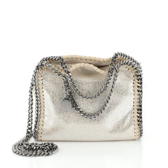 Stella McCartney Falabella Fold Over Crossbody Bag Shaggy Deer Tiny
