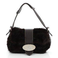 Vintage Selleria Flap Bag Fur and Leather Small