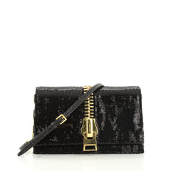 Sedgwick Chain Clutch Sequins and Snakeskin Small