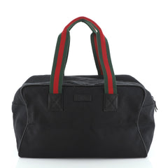 Gucci Web Carry On Duffle Bag GG Canvas Small