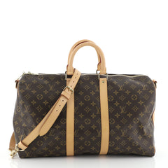 Louis Vuitton Keepall Bandouliere Bag Monogram Canvas 45