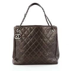 Chanel Chic Shopping Tote Quilted Caviar North South