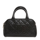 Chanel CC Bowler Quilted Caviar Small