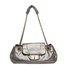 Chanel Accordion Flap Perforated Leather Classic