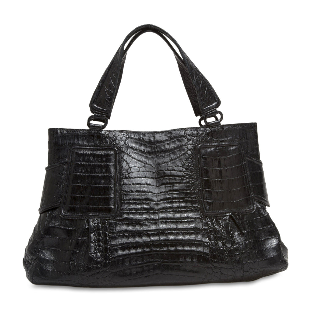 Buy nancy gonzalez tote crocodile medium black 57001 for Nancy gonzalez crocodile tote