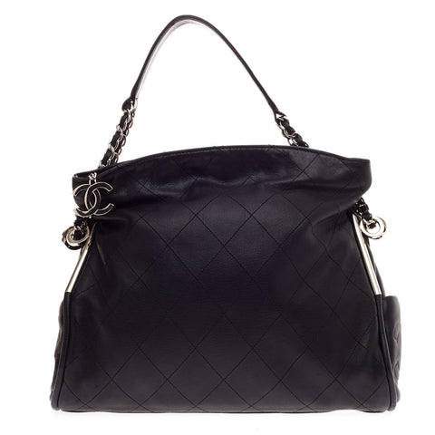 b461f51917a044 Buy Chanel Ultimate Soft Hobo Quilted Leather Medium Black 59710 – Rebag