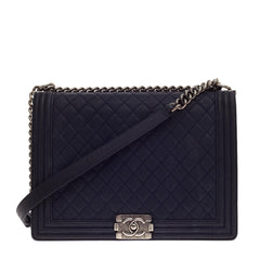 Chanel Boy Flap Matte Caviar Large