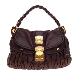 Miu Miu Matelasse Hobo Coffer Lock Closure