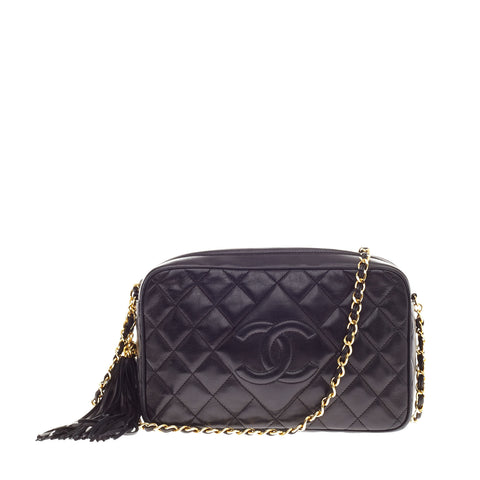342fcc23cf3d Buy Chanel Diamond Camera Bag Quilted Leather Crossbody Black 63303 – Rebag