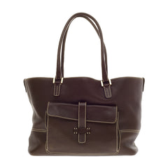 Loro Piana Globe Tote Leather Medium