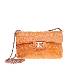 Chanel Camellia Flap Patent Small