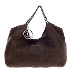 Chanel Coco Cabas CC Logo Distressed Caviar Extra Large